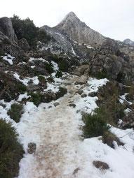 """Der Berg """"Cerro San Cristóbal"""" vom Pass aus gesehen."""