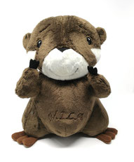 Süßes großes Kuscheltier Otter, 30cm, personalisiert mit Namen