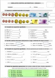 Euros, tiempo, cálculo, problemas