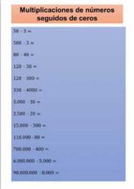 Multiplicar y Dividir números naturales con ceros
