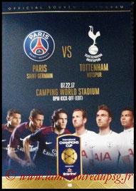 Programme  PSG-Tottenham Hotspur  2017-18