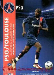 Programme  PSG-Toulouse  2003-04