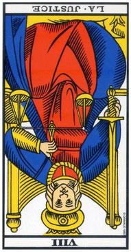 justice tarot de marseille