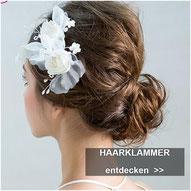 Haarschmuck Braut Haarklammer Hochzeit - Braut Haarklammmer Perlen Blumen Strass