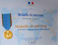 Tourismusorden des Pariser Ministeriums für Doris Coppenrath
