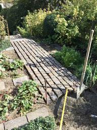 Bepflasterung, Gartenunterhalt, Weg legen, Steinweg