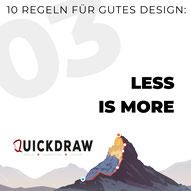 Bild zeigt die Typographie von Less is more