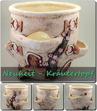 Keramik Kräutertopf