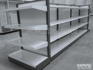 Góndola metalica central, góndolas para abarrotes, góndola para supermercado