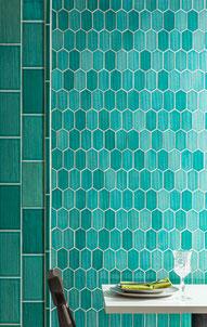 Mosaico ceramica verde