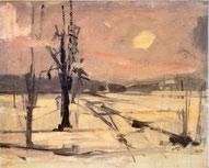 Winterlandschaft mit Sonne