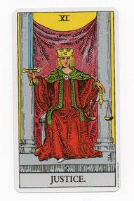 正義のタロットカード