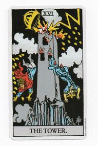 塔のタロットカード
