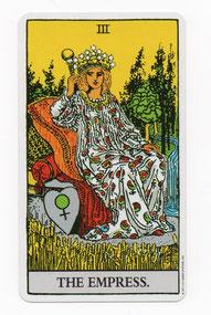 女帝のタロットカード
