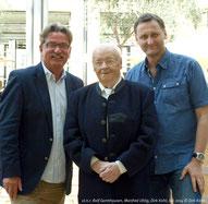 v.l.n.r.: Rolf Garmhausen, Manfred Uhlig und Verleger Dirk Kohl (Weltbuch Verlag)