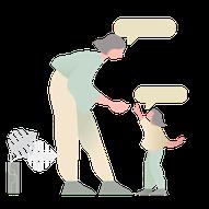 apprendre a parler a son enfant. illustration