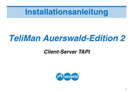 Titelbild Installationsanleitung TeliMan Auerswald-Edition 2, Client-Server TAPI, Auerswald COMpact 2104.2 USB