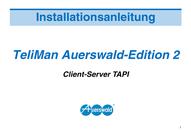 Titelbild Installationsanleitung TeliMan Auerswald-Edition 2, Client-Server TAPI, Auerswald COMpact 2104 DSL