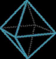 Grafik, geometrische Figur, Oktaeder, Wirtschaftsbionik, Symboal für Organisationslösung