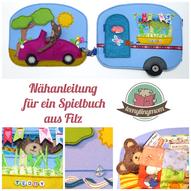 Quiet book Spielbuch aus Filz Nähanleitung Schablonen Teddy