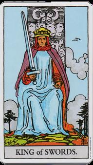 ソードのキングのタロットカード