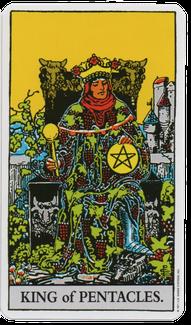 ペンタクルのキングのタロットカード