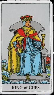 カップのキングのタロットカード