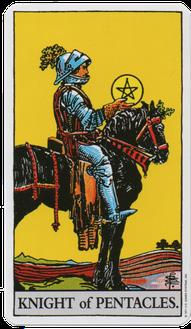 ペンタクルのナイトのタロットカード