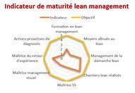 Diagnostic de maturité effectué par l'ingénieur lean management.