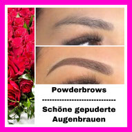 Powder Brows - Vegas Brows - Schattierung - Shading - Augenbrauen - Permanent Make Up - Studio Pimp my Face Hamburg Bramfeld