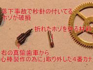 懐中時計シャフト修理①