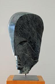 Armani Kopf Speckstein Skulptur