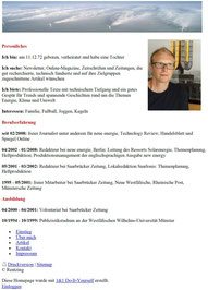 Sascha Rentzing: Profil (2012)