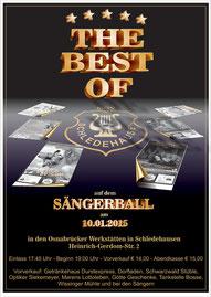 Plakat Sängerball 2015 MGV Schledehausen