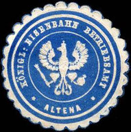 Siegelmarke des Königlichen Eisenbahn Betriebsamts Altena