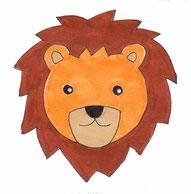 Löwe Zeichnung Kinderpullover Applikation GOTS