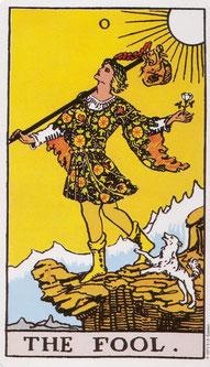 (Abbildung der Tarotkarte mit freundlicher  Genehmigung des Königsfurt-Urania-Verlags)