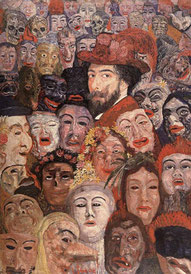 Ensor aux masques, James Ensor 1899
