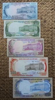 Vietnam d Sur dong 1972 anversos