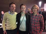 Neil Burton, Caroline Marchlewski und Nicolas Roditscheff (v.l.) an den Sport-Champions 2016