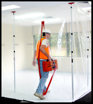 Zipwall, an adjustable Dust Barrier system