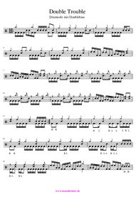 Noten für Drums mit Doublebass