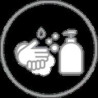 Bitte regelmäßig Hände waschen und desinfizieren
