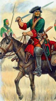 Russische Kavallerie um 1720