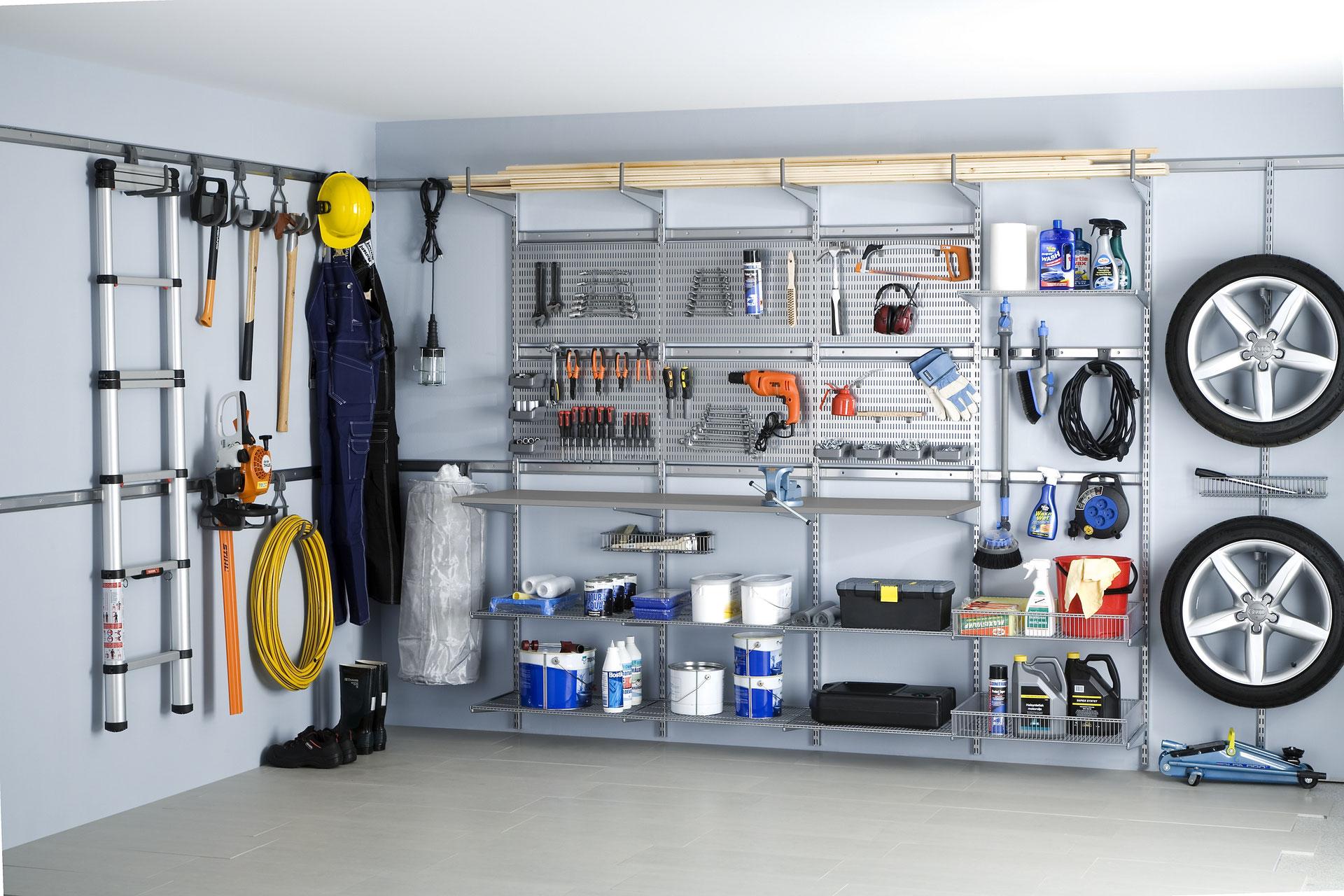 Regalsystem keller  Endlich Ordnung in der Garage mit Elfa - Garage optimal einrichten