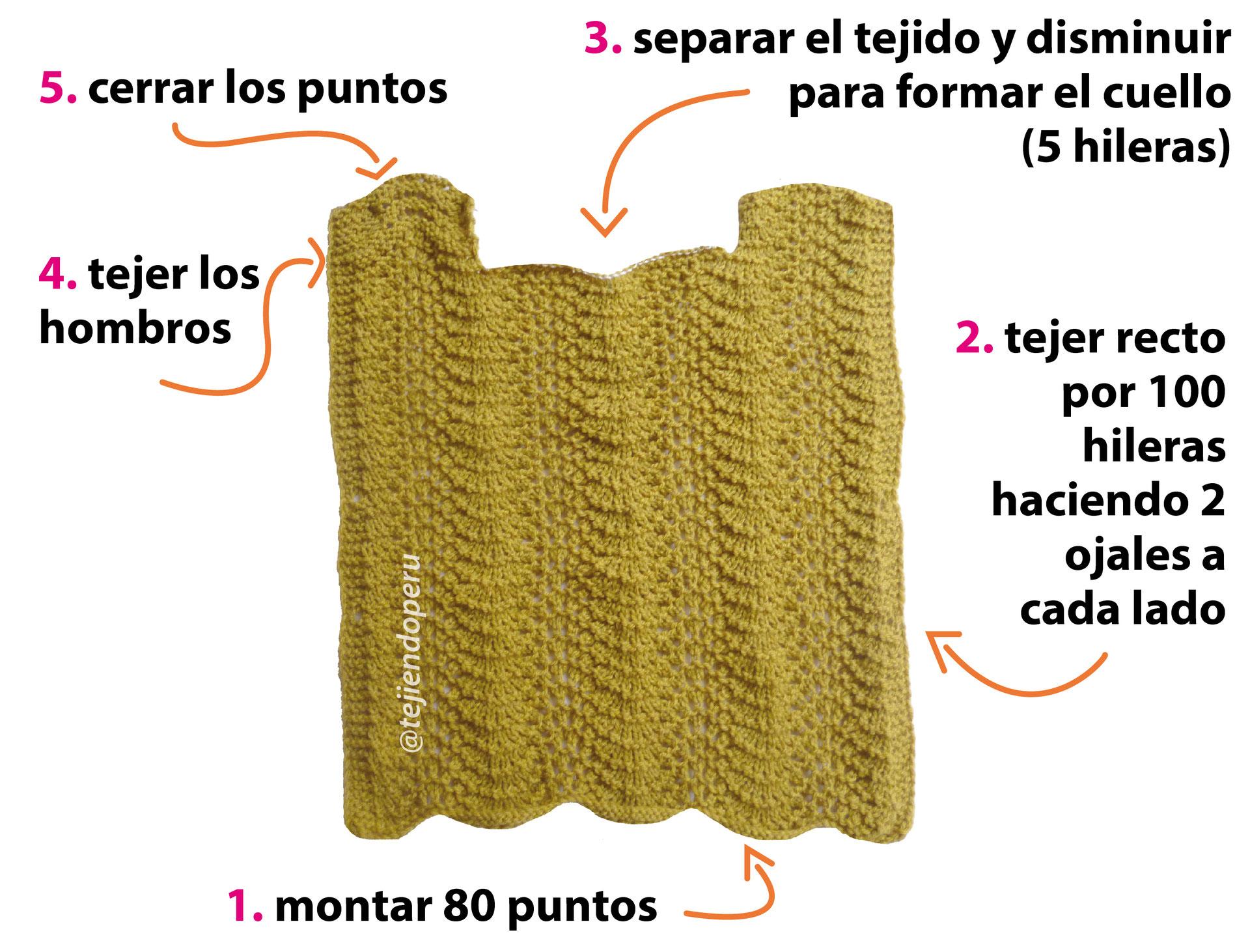 Poncho pullover - Tejiendo Perú
