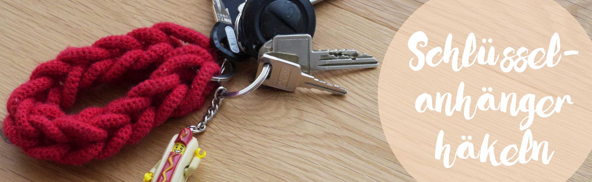 Schlüssel-Anhänger häkeln - omniview | dein DIY-Blog