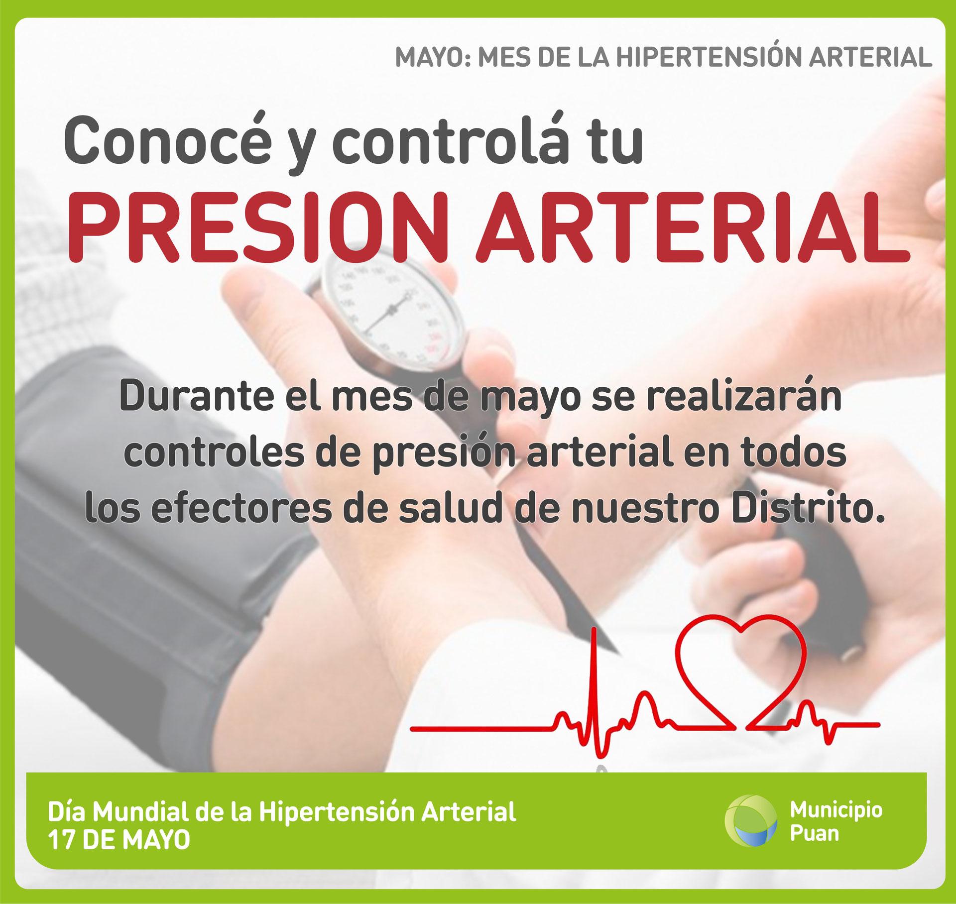 Mayo mes de presión arterial
