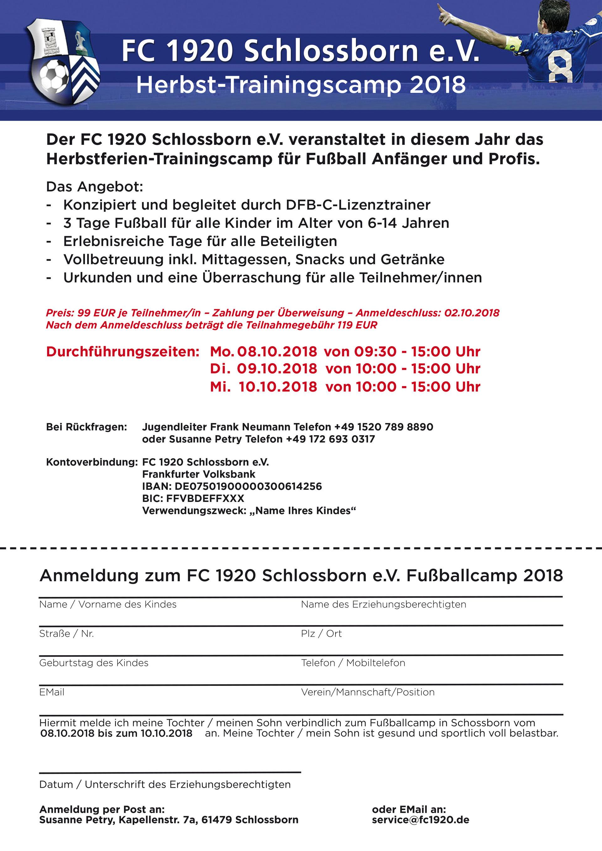 Fußballcamp - FC 1920 Schlossborn e.V.