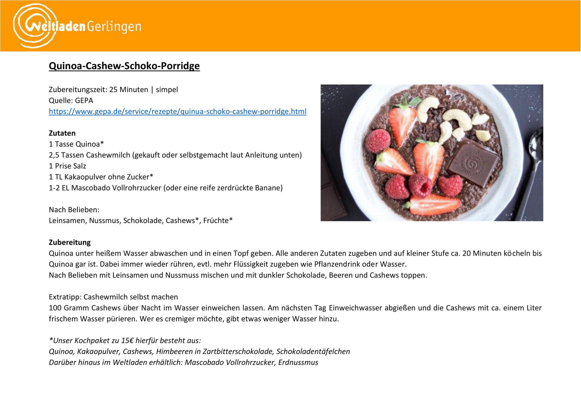Rezepte & Kochpakete   Weltladen Gerlingen